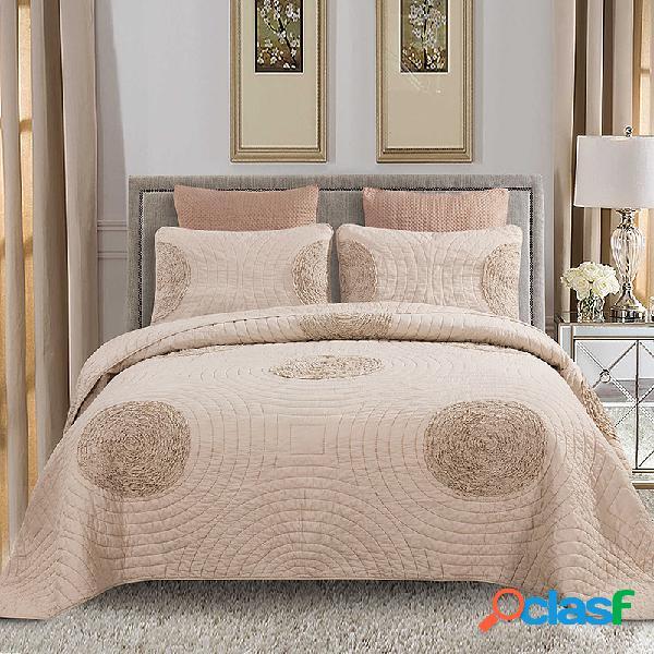 Edredão fina cama de algodão de três peças três conjuntos de verão colcha fresca