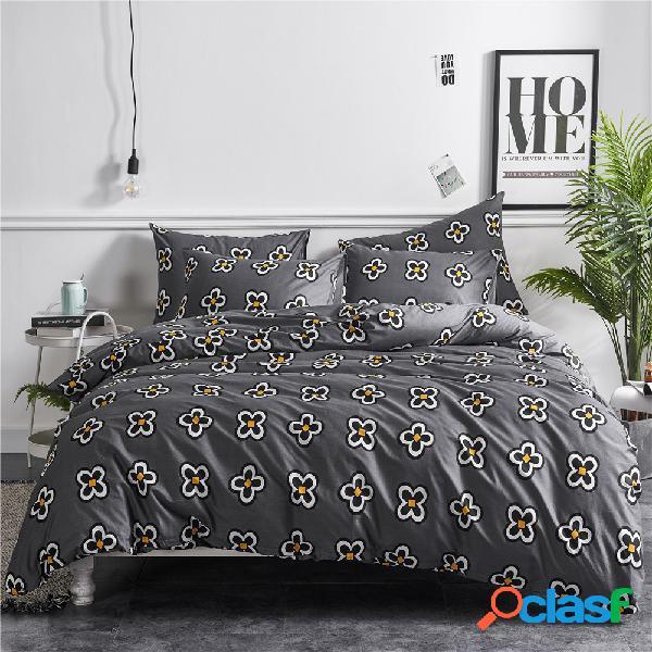 Conjuntos de roupa de cama de cetim de algodão lençóis de cama colcha kit de três peças capa de edredom capa de cama kit de algodão