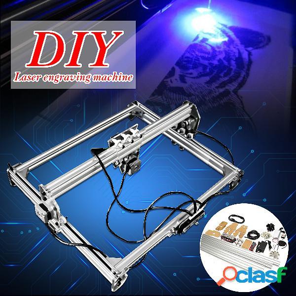 50x65cm mini 3000mw azul cnc laser máquina de gravação 2 axis dc 12v diy desktop engraver madeira roteador / cortador / impressora + laser