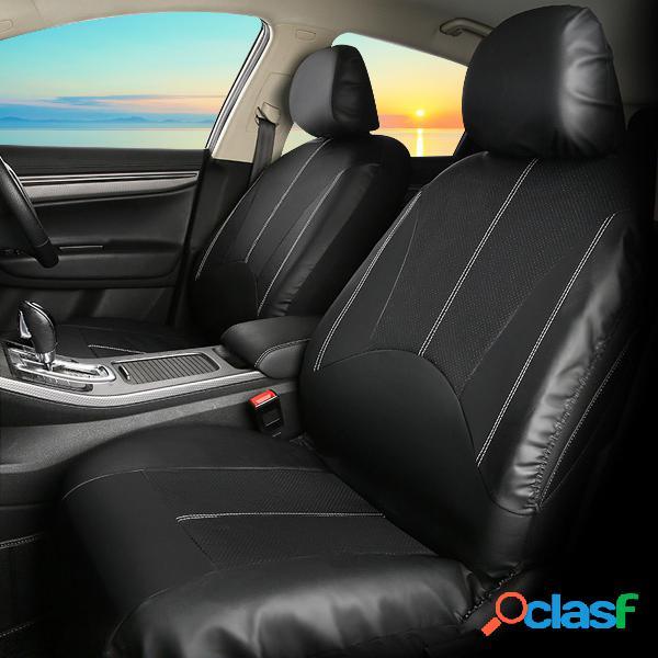 9 pcs pu couro tampa de assento do carro conjunto completo dianteiro traseiro assento almofada tapete protetor