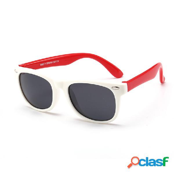 Óculos de sol infantis flexíveis polarizados criança bebê proteção de sol óculos uv400