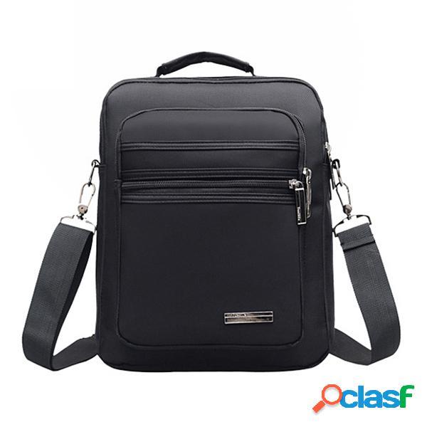 Homens nylon outdoor casual impermeável grande capacidade multi-função crossbody bag