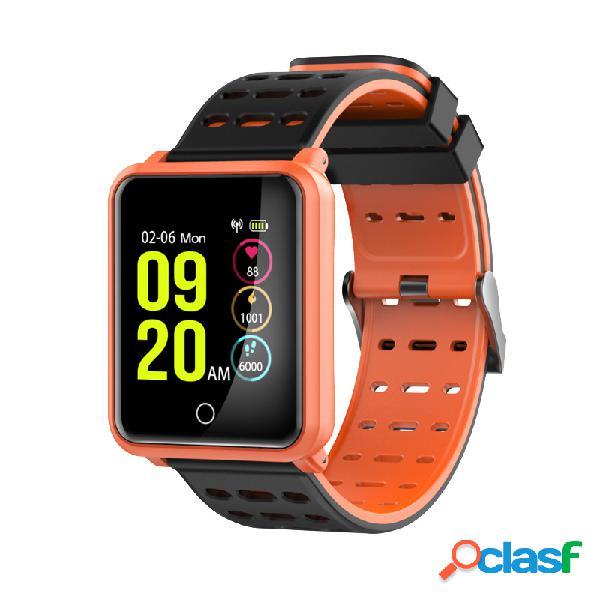 Monitor de freqüência cardíaca de tela colorida pressão arterial pulseira relógio inteligente saúde fitness rastreador