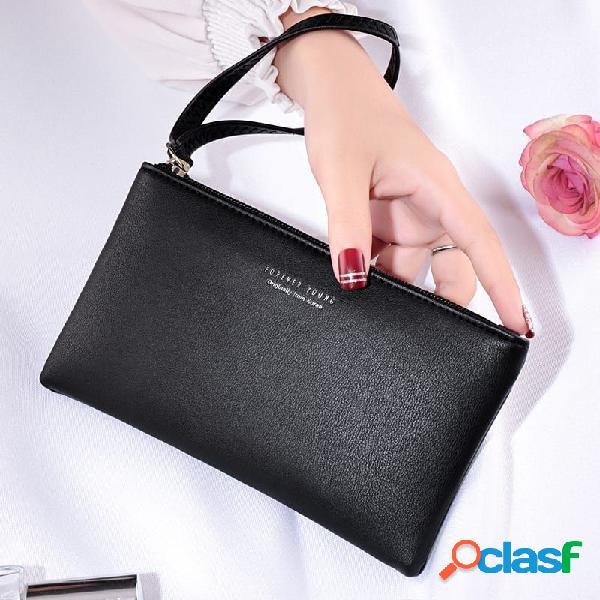 Telefone de grande capacidade para mulheres bolsa coin purse clutch bolsa