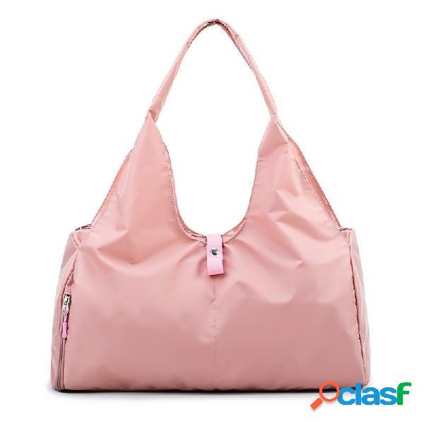 Bolsa impermeável de alta capacidade de viagem bolsa compras bolsa bagagem bolsa