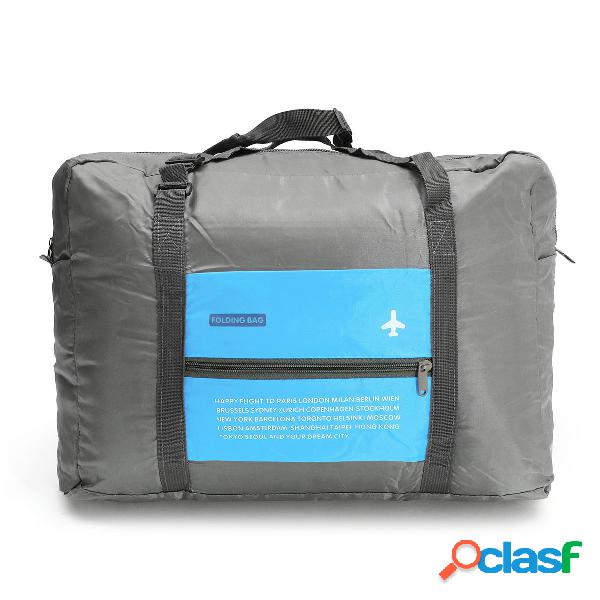 Bolsa de armazenamento de bagagem de viagem dobrável bolsa de compras à prova de água e dobrável bolsa de compras