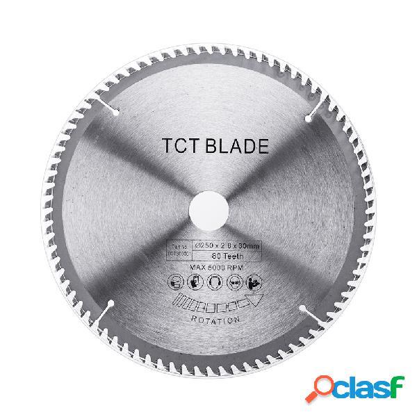 Effetool 250x2.8x30x80t tct lâmina de serra dura lâmina de serra circular multi-funcional de madeira de alumínio
