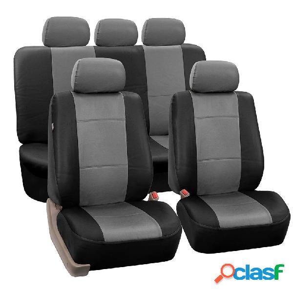9 pçs / set pu assento de carro de couro destacável cobre frente balde conjunto completo protetor