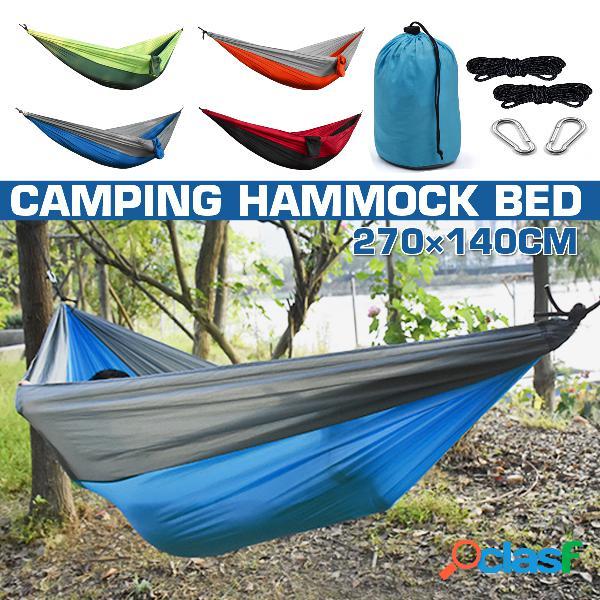 Rede de acampamento ao ar livre pára-quedas pano 260 * 140 single camping hammock hammock