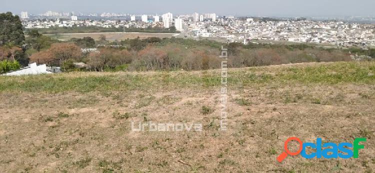 Terreno em declive, vista definitiva, cond. alto padrão no urbanova