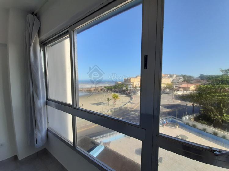 Apartamento frente mar a venda na praia do sonho, itanhaém
