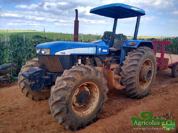 Trator new holland 7630 4x4 ano 09