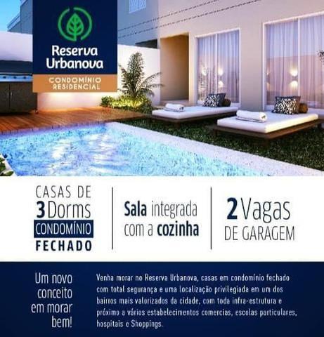 Vendo casa em condomínio no urbanova - 3 dormitórios -
