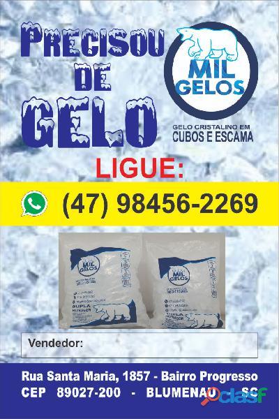 Fabrica e venda de Gelo cubo e escama