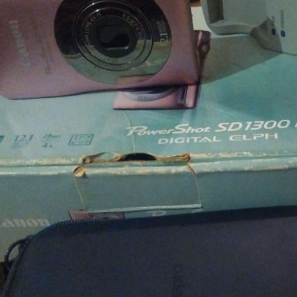 Canon powershot sd1300is digital elph em bom estado
