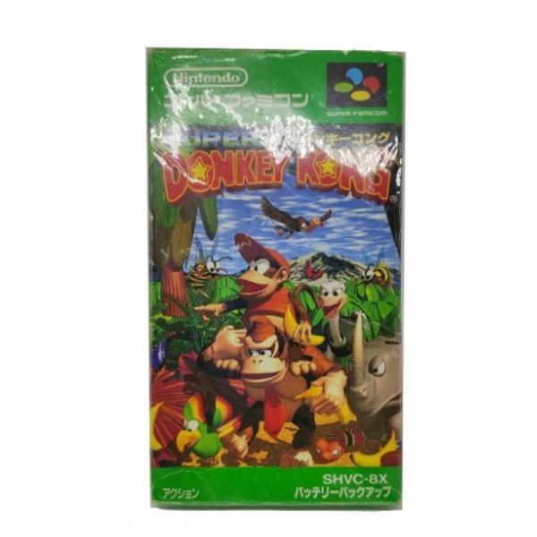 Cartucho donkey kong original c caixa snes nintendo japonês