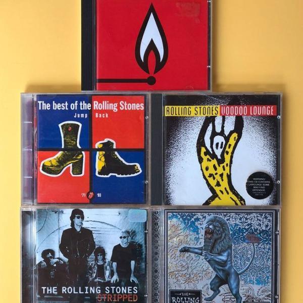 Cds rolling stones , 5 cds