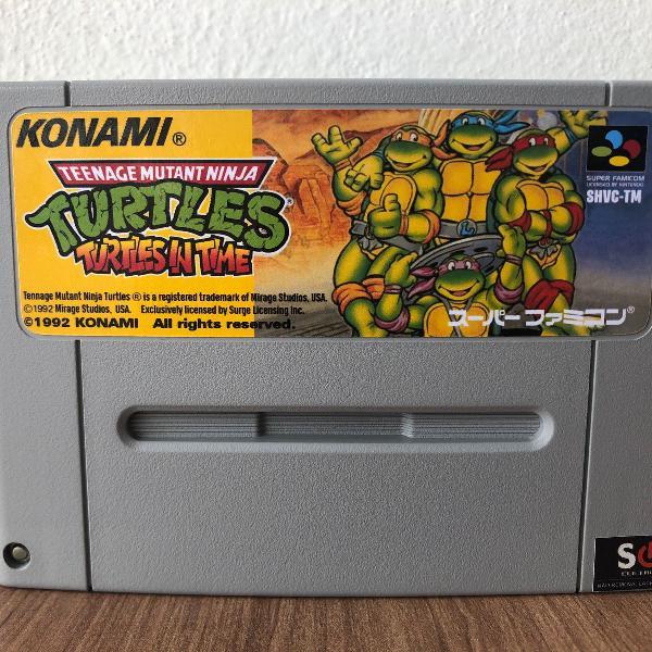 Fita famicom nova: tartaruga ninja