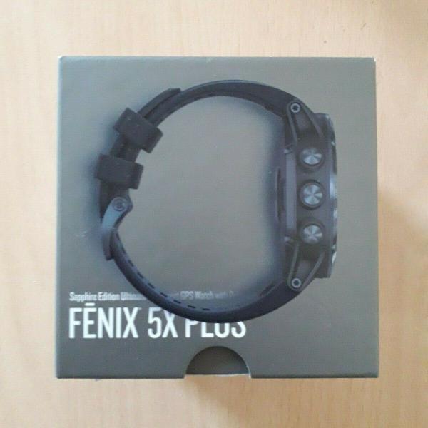Garmin fenix 5x plus sapphire edition relógio sport