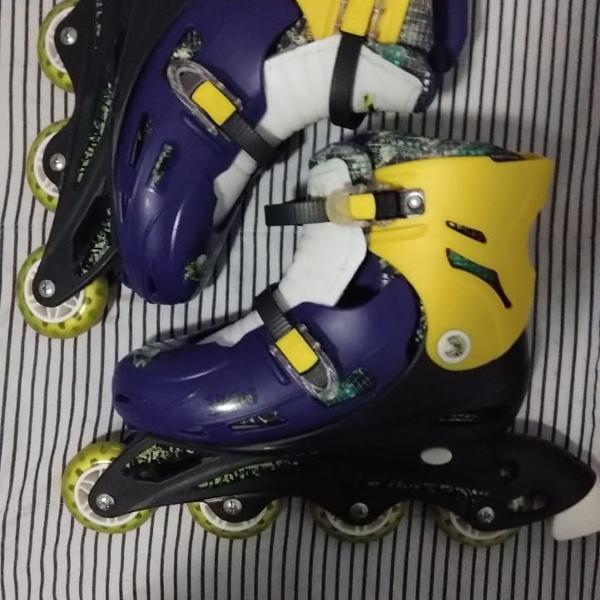 Kit patins roller by kids novinho
