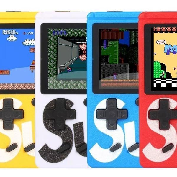 Mini game retrô portatil 400 jogos antigos anos 80 tv