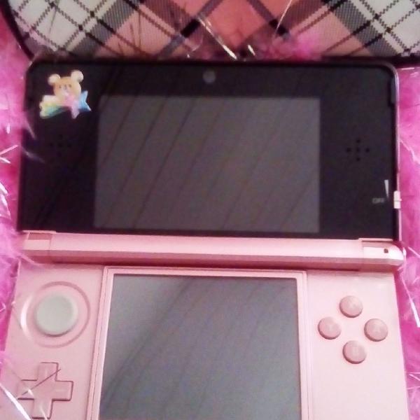Nintendo 3ds rosa desbloqueado e com vários jogos!