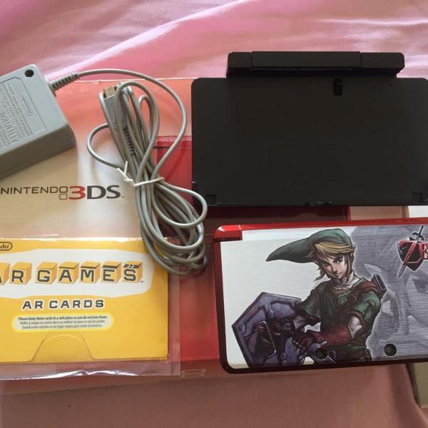 Nintendo 3ds - vermelho - usado c/ caixa original com