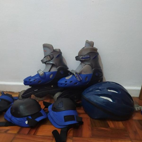 Patins de 4 rodas kit completo