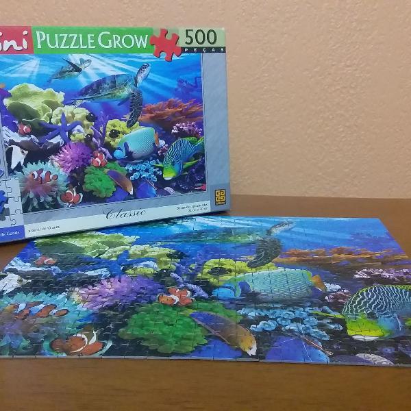 Quebra cabeça grow recife de corais mini puzzle