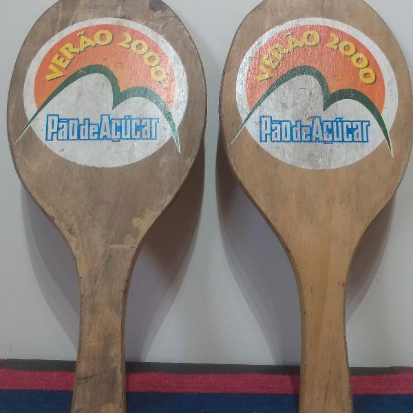 Raquete de madeira verão 2000
