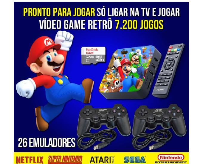 Video game retrô gamebox - 7.200 jogos