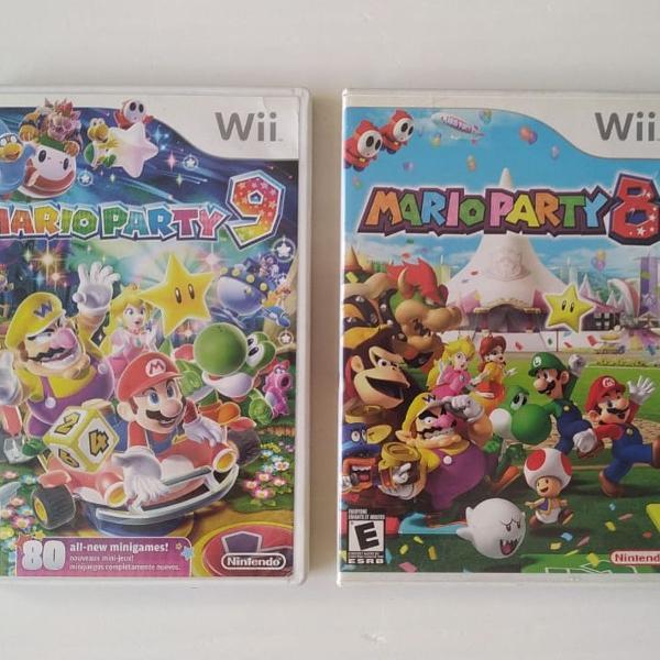 Wii - mario party 8 e 9 original nintendo wii