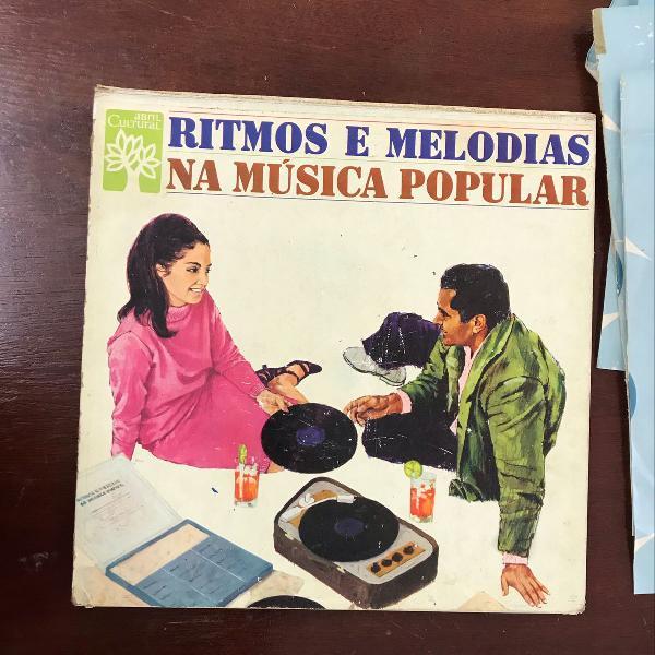 Lp box ritmos e melodias na música popular 6 discos