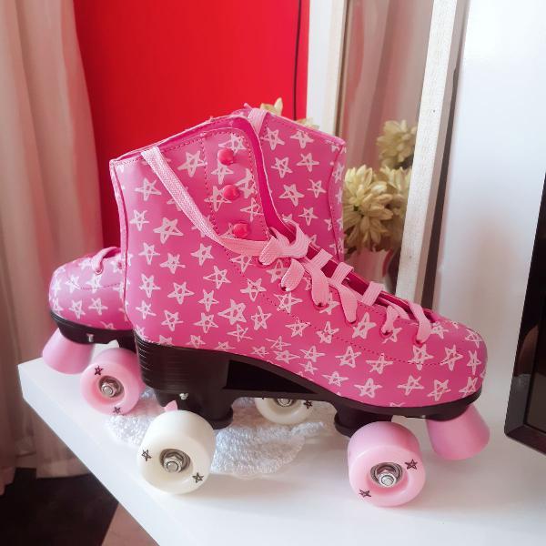 Patins rosa roller star