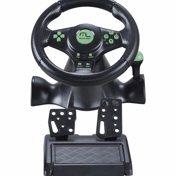 Volante multilaser racer 4 em 1 xbox 360 ps2 ps3 pc js075