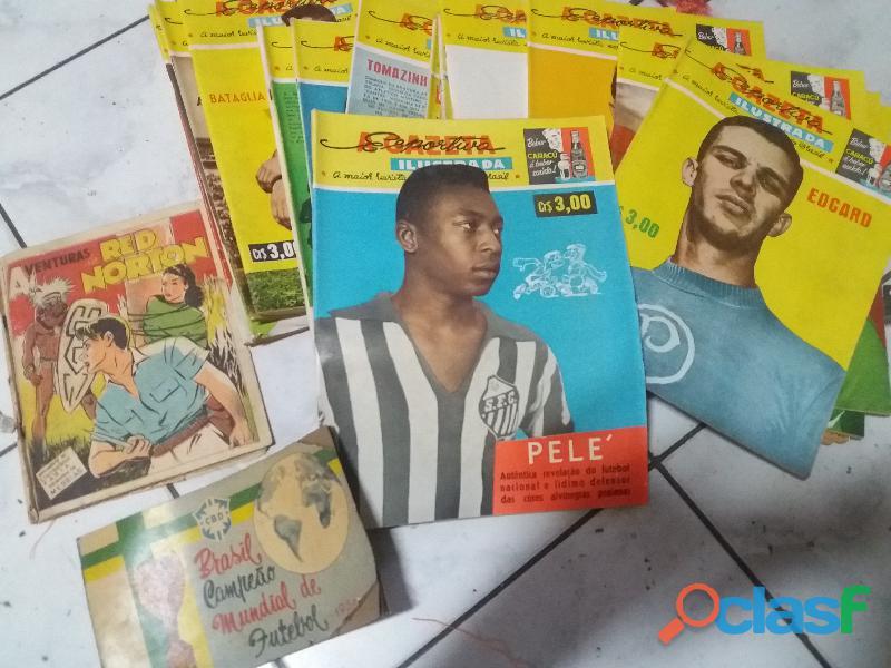 Álbum figurinha e revistas Á GAZETA esportiva (antigo)