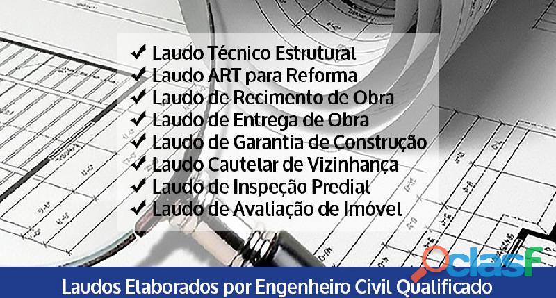 Elaboração de Laudo Técnico Estrutural e reformas