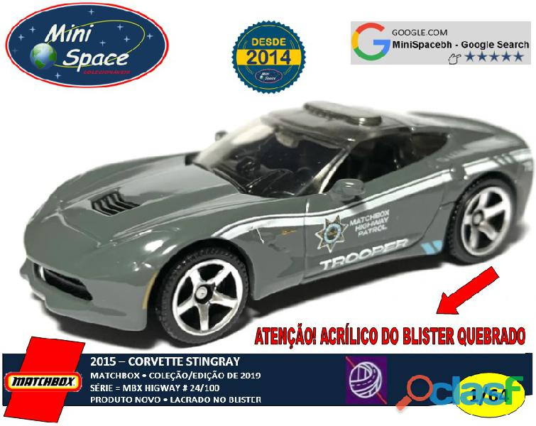 Matchbox 2015 Corvette Stingray Polícia 1/64