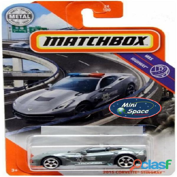 Matchbox 2015 Corvette Stingray Polícia 1/64 2