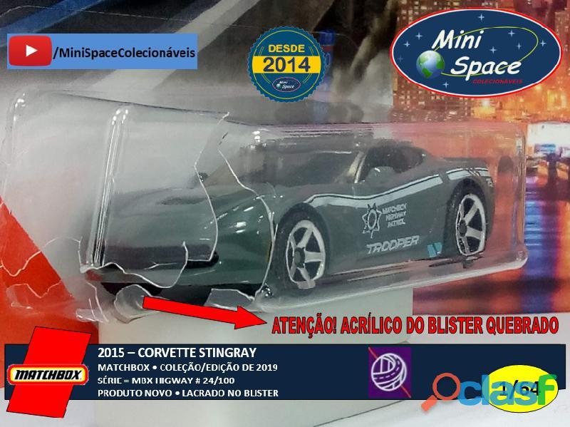 Matchbox 2015 Corvette Stingray Polícia 1/64 1