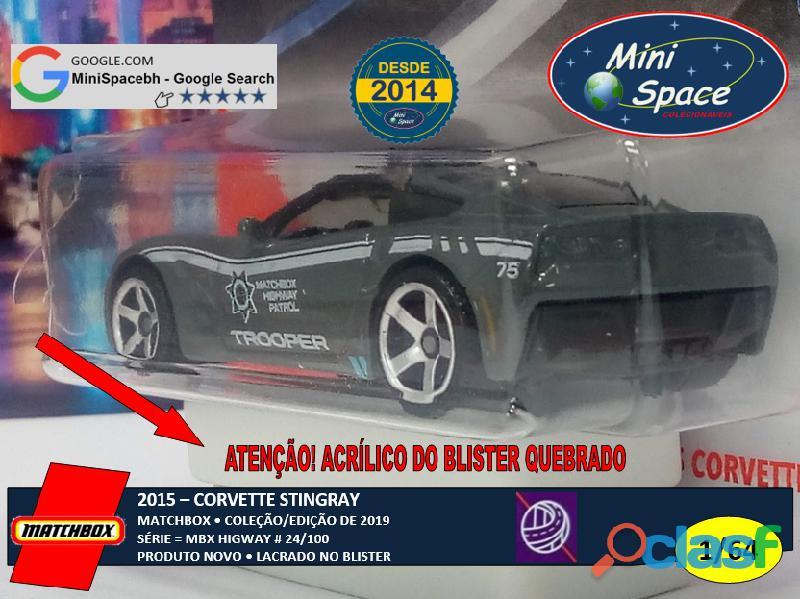 Matchbox 2015 Corvette Stingray Polícia 1/64 4