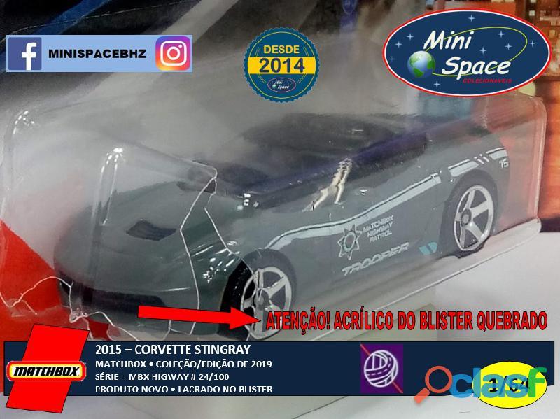 Matchbox 2015 Corvette Stingray Polícia 1/64 6