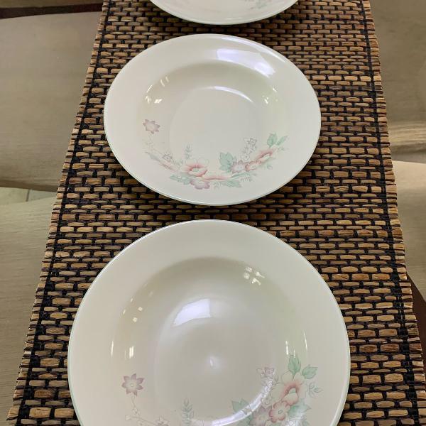 4 pratos fundos porcelana schmidt para reposição