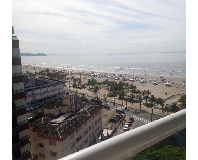 Apartamento praia grande vista mar troco