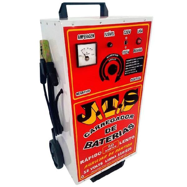 Carregador de bateria rápido/lento 12v 50a com auxiliar de