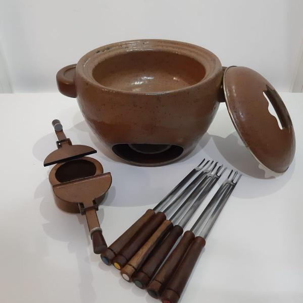 Conjunto fondue ágata 9 peças