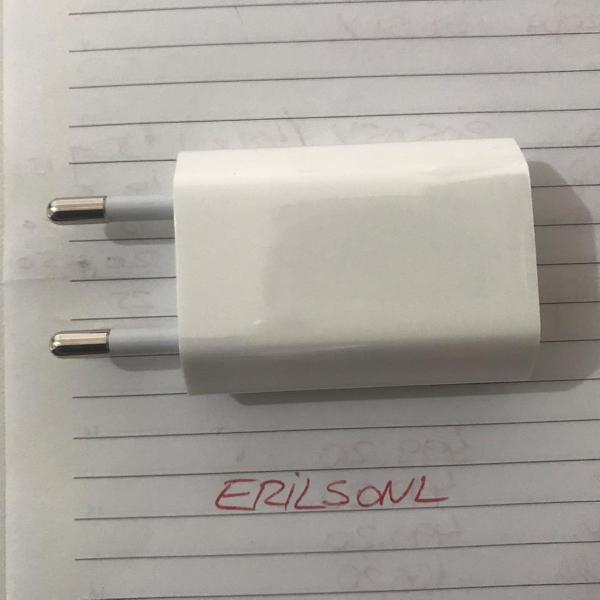 Fonte carregador adaptador usb apple original novo