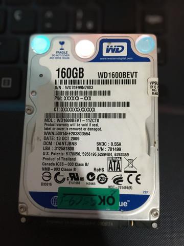 Hd 160gb wd blue para notebook