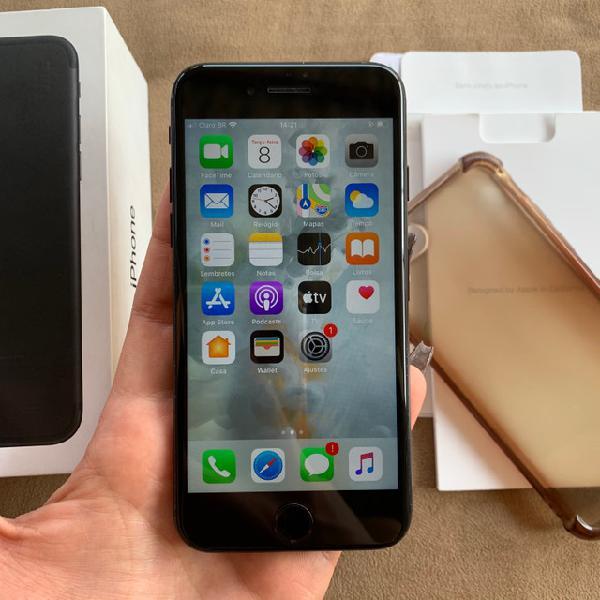 Iphone 7 32gb black aceito cartão