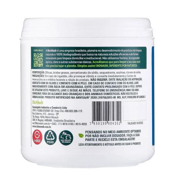 Kit 4x lava louças detergente natural em pó 500g biowash